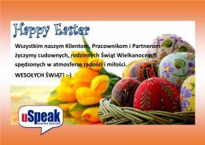 Wszystkim naszym Klientom, Pracownikom i Partnerom życzymy cudownych, rodzinnych Świąt Wielkanocnych spędzonych w atmosferze radości i miłości. WESOŁYCH ŚWIĄT! :-)
