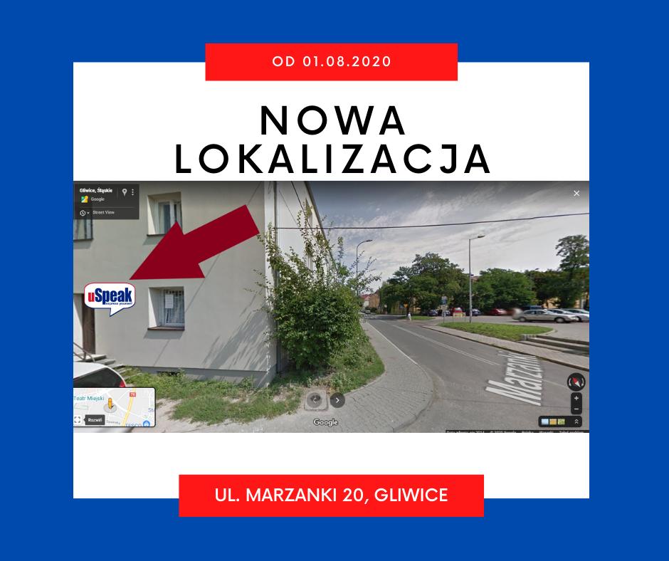 zdjęcie poglądowe nowej lokalizacji w Gliwicach przy ul. Marzanki 20